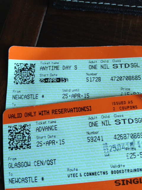 photo of rail tickets